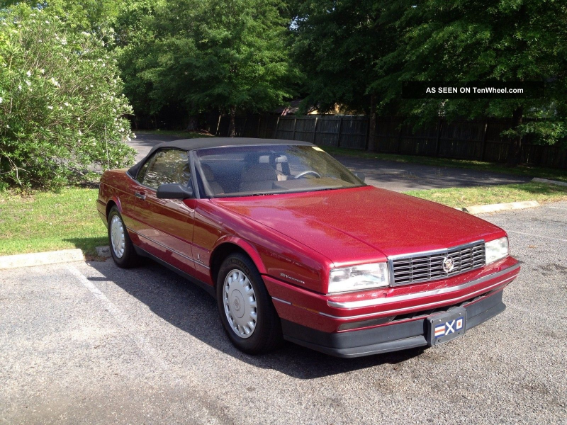 1993 Cadillac Allante Value Leader Convertible 2 - Door 4. 6l Allante ...