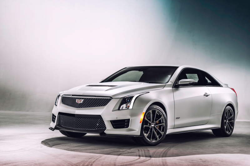 2016 Cadillac ATS V front three quarter view