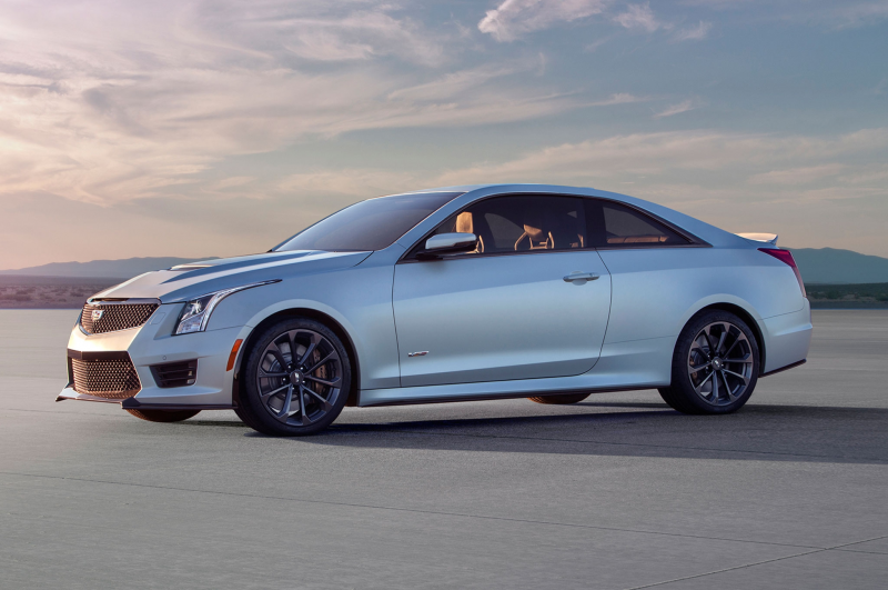 2016 Cadillac ATS V Coupe front driver profile