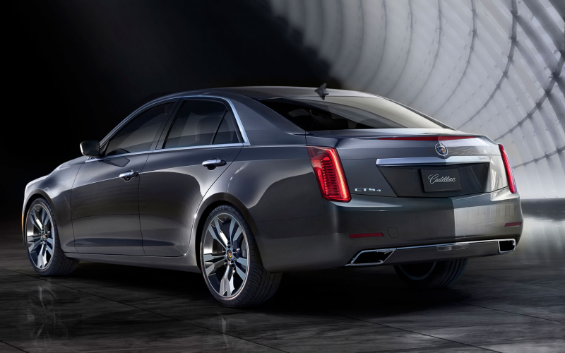 2014 Cadillac Cts Rear Left View