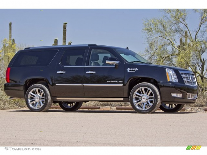 Black Raven 2012 Cadillac Escalade ESV Platinum AWD Exterior Photo ...