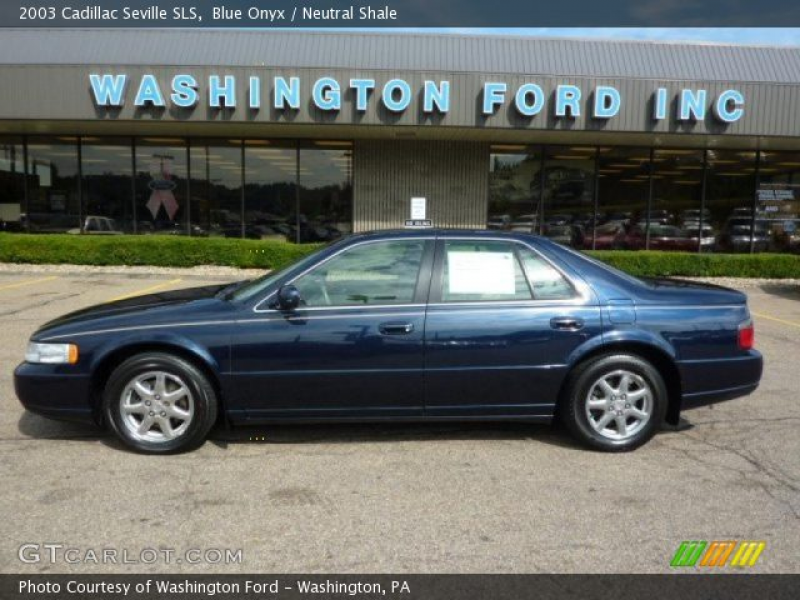 2003 Cadillac Seville SLS in Blue Onyx. Click to see large photo.