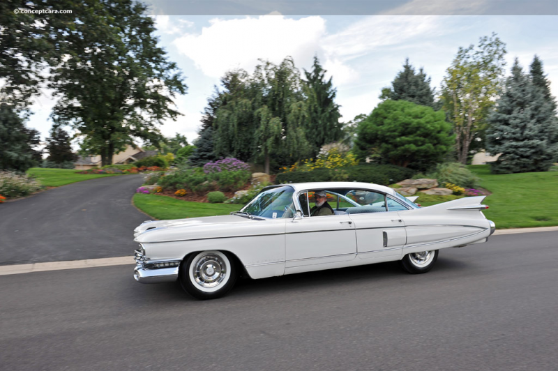 shown are representations of the 1959 Cadillac Series Sixty Special ...