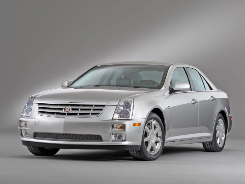 2005 Cadillac STS - Front Angle - Studio - 1920x1440 Wallpaper