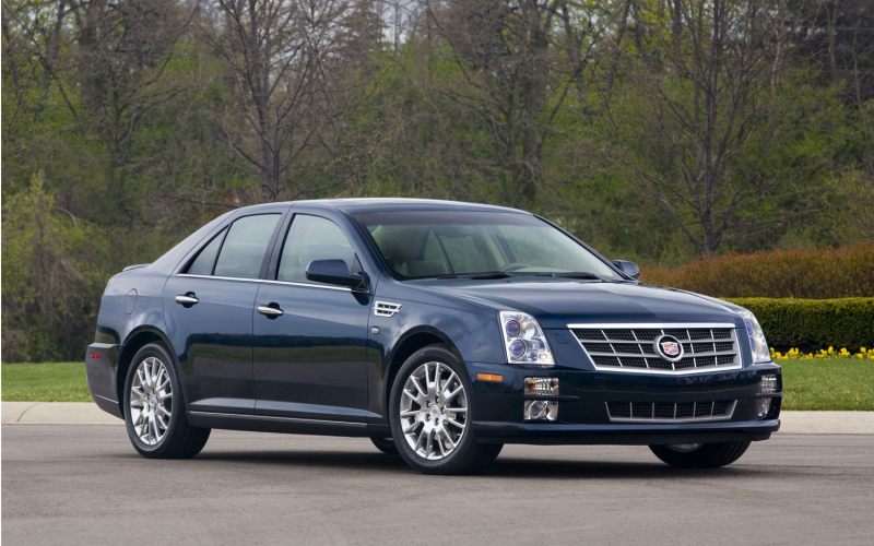 2009 Cadillac Sts Front Three Quarters