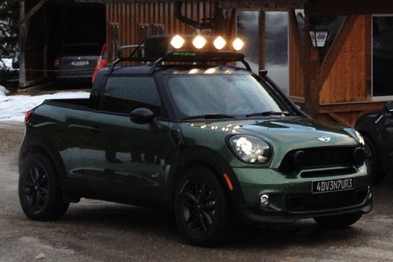 Check out this Mini pick-up truck. It's actually a Mini Paceman that ...