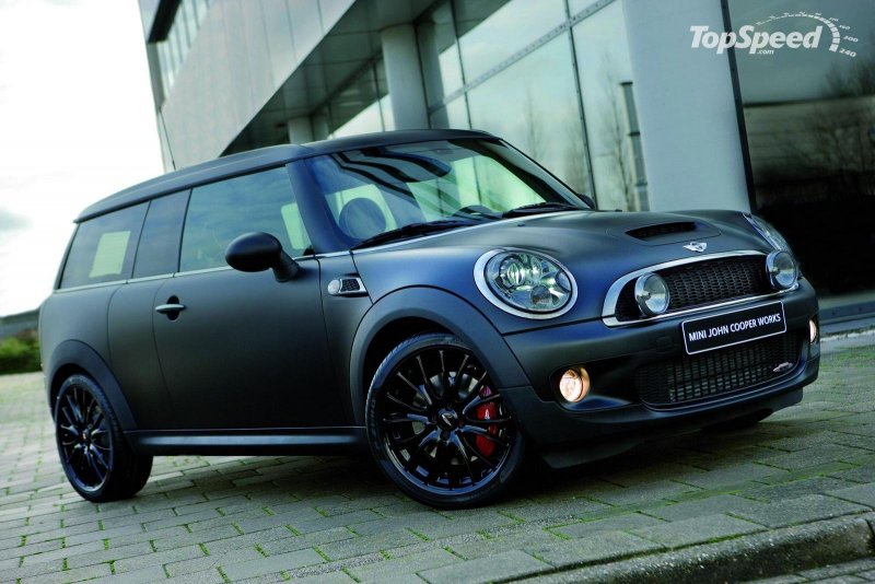 2008 Matte black Mini John Cooper Works Clubman picture - doc276979