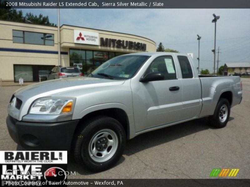 Sierra Silver Metallic 2008 Mitsubishi Raider LS Extended Cab with ...