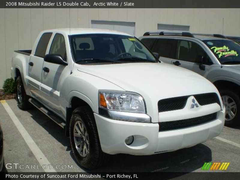2008 Mitsubishi Raider LS Double Cab in Arctic White. Click to see ...
