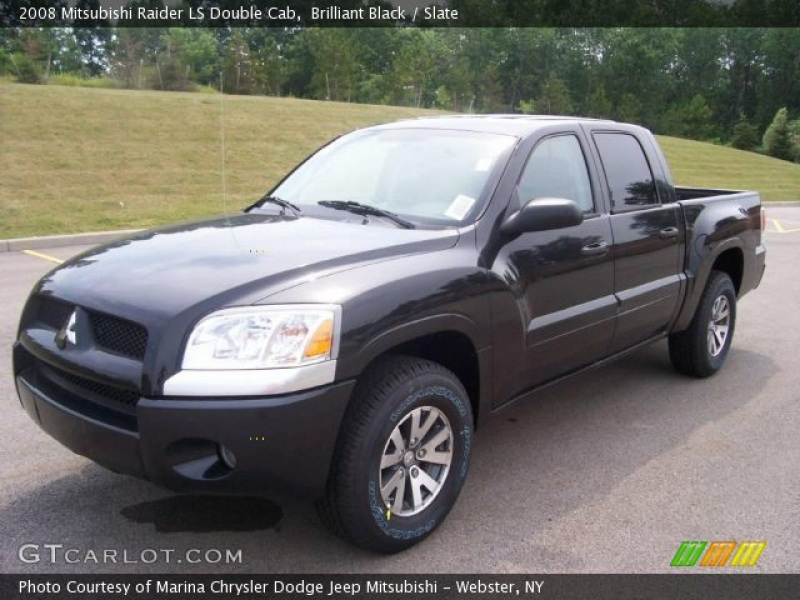 2008 Mitsubishi Raider LS Double Cab in Brilliant Black. Click to see ...