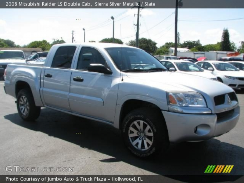 Sierra Silver Metallic 2008 Mitsubishi Raider LS Double Cab with Slate ...