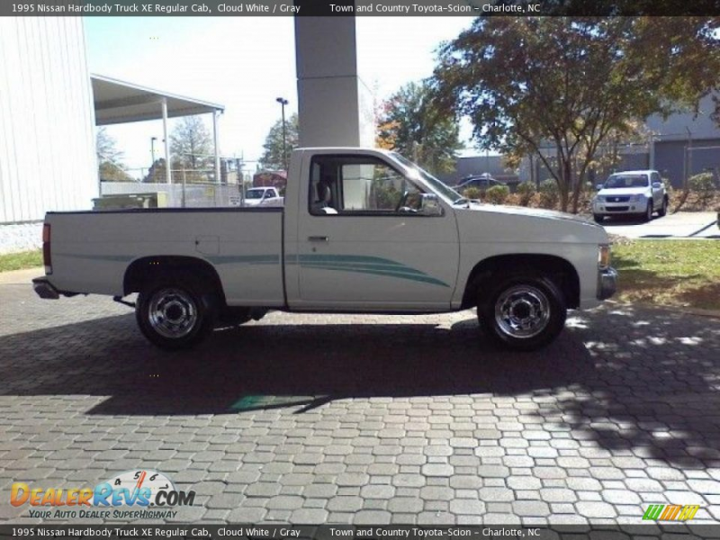 1995 Nissan Hardbody Truck XE Regular Cab Cloud White / Gray Photo #16