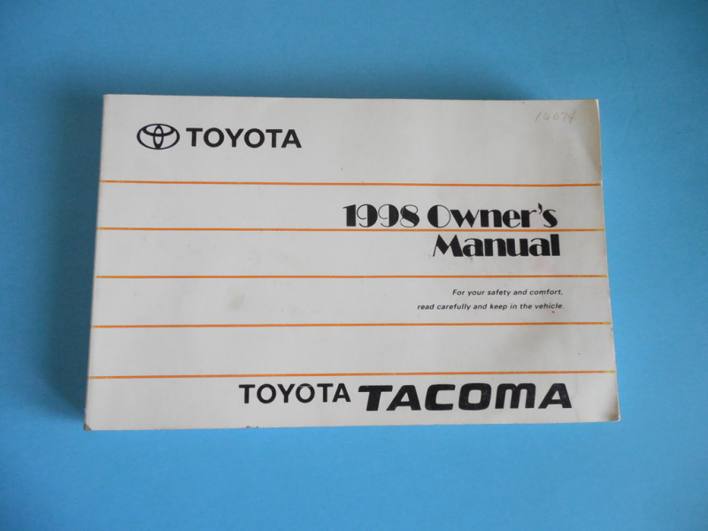 Details about 1998 Toyota Tacoma Factory Owners Owner's Manual