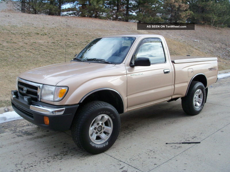 Awesome 1999 Toyota Tacoma 4x4 5speed Regular Cab 2. 7l Fiberglass ...