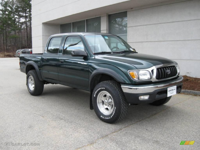 2002 Tacoma V6 Double Cab 4x4 - Imperial Jade Green Mica / Charcoal ...