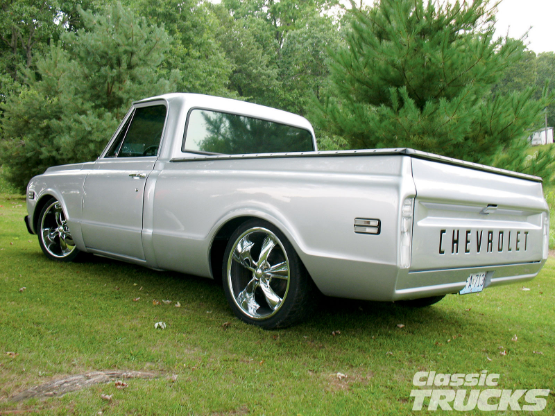 1969 Chevy C10 Pickup Truck Custom Aftermarket Rims