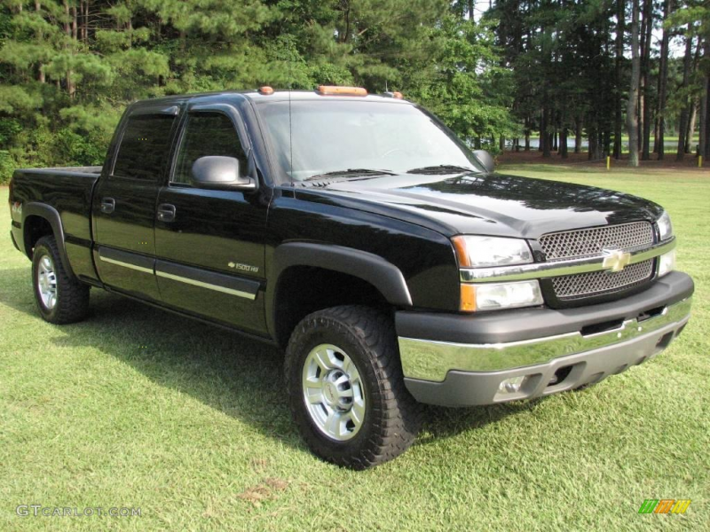 2003 Chevrolet Silverado 1500 HD Crew Cab 4x4 - Black Color / Dark ...