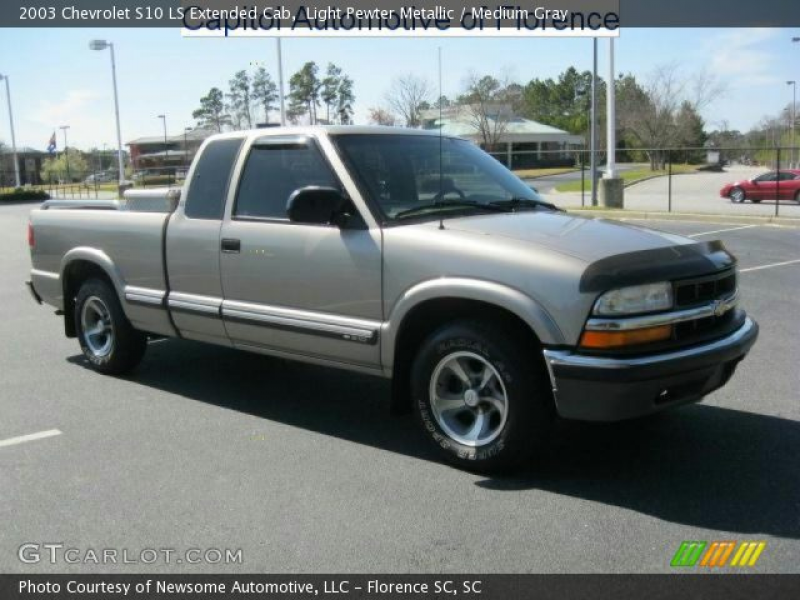 2003 Chevrolet S10 LS Extended Cab in Light Pewter Metallic. Click to ...