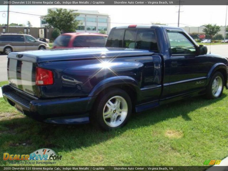 2003 Chevrolet S10 Xtreme Regular Cab Indigo Blue Metallic / Graphite ...