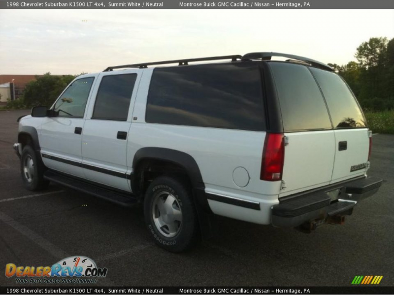 1998 Chevrolet Suburban K1500 LT 4x4 Summit White / Neutral Photo #4