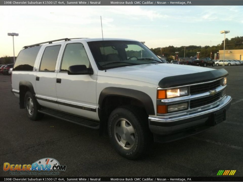 1998 Chevrolet Suburban K1500 LT 4x4 Summit White / Neutral Photo #8