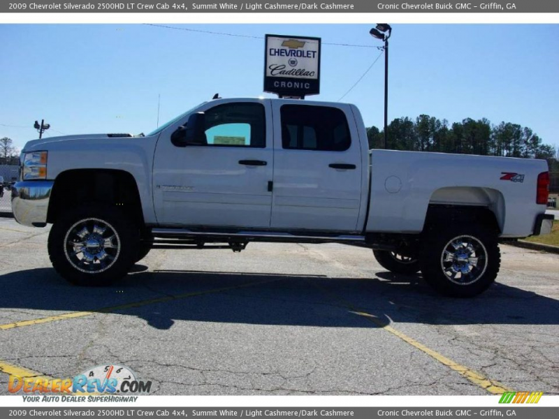 2009 Chevrolet Silverado 2500HD LT Crew Cab 4x4 Summit White / Light ...