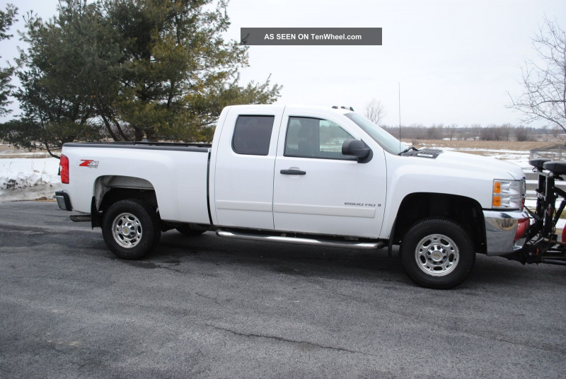 2008 Chevy Silverado 2500 Hd 4x4 Towing Package Western Plow Liner Low ...