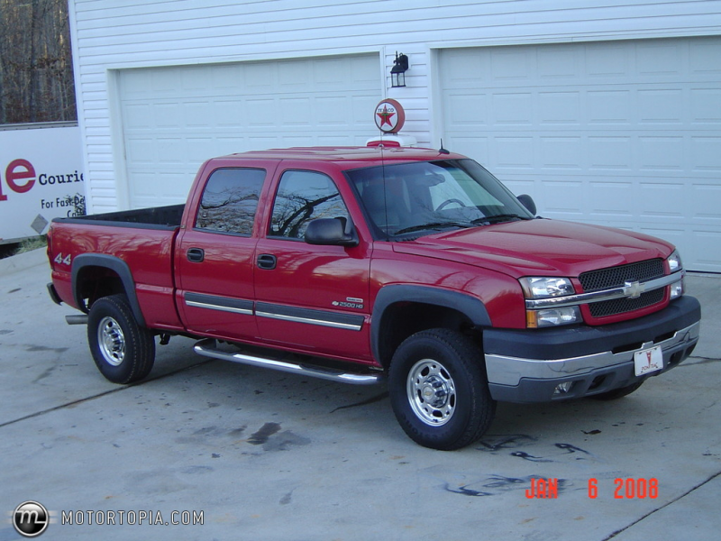 Photo of a 2003 Chevrolet Silverado 2500HD Duramax Diesel (Red Truck)