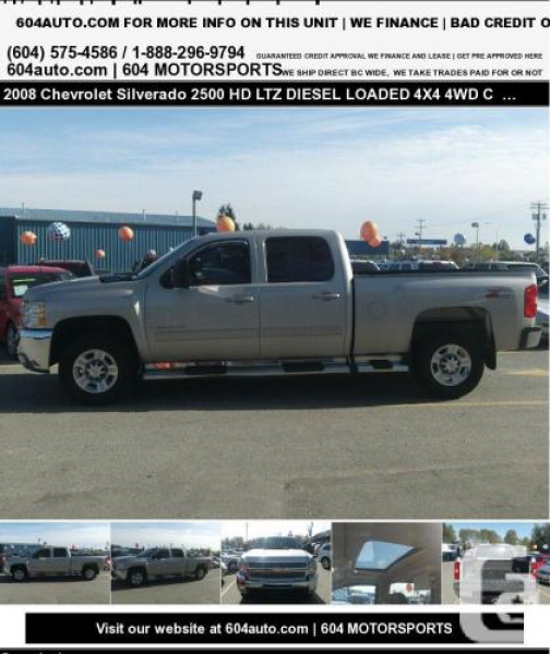 2008 Chevrolet Silverado 2500 HD LTZ DIESEL LOADED 4X4 4WD Crew Cab ...