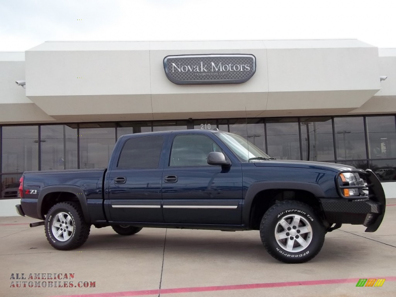2005 Chevrolet Silverado 1500 Z71 Crew Cab 4x4 in Dark Blue Metallic ...