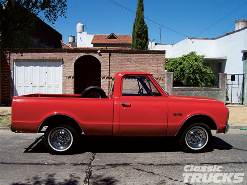 1966 Chevy C10 Pickup Truck Low Profile Tires