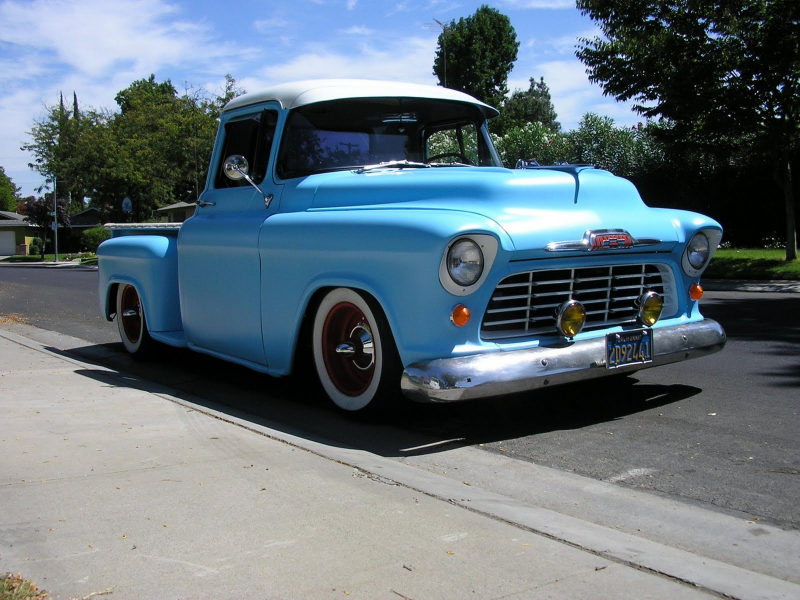 1955 chevrolet cameo pickup hotrod picture 3