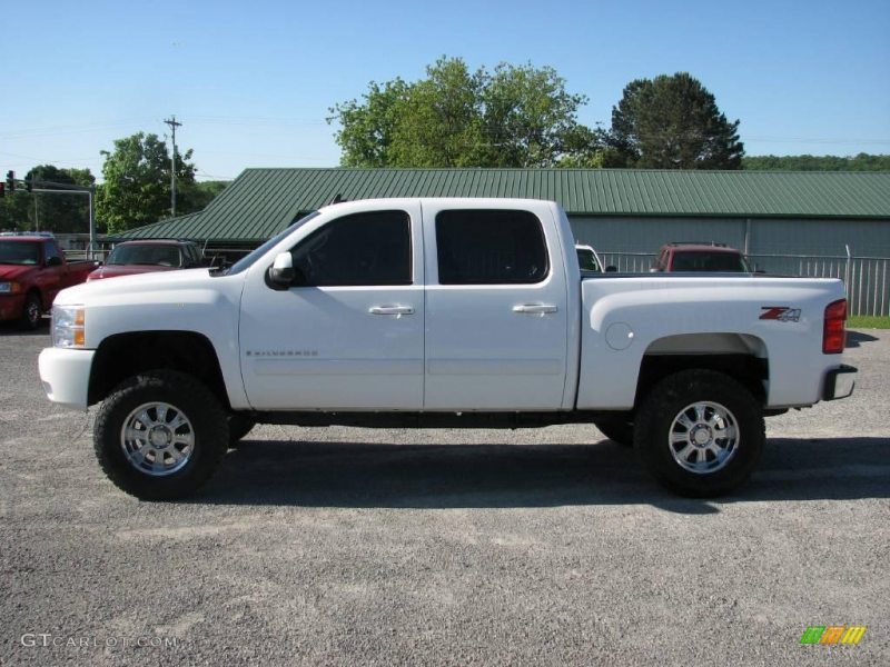 2008 Silverado 1500 LTZ Crew Cab 4x4 - Summit White / Light Cashmere ...
