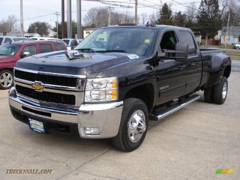 2010 Chevrolet Silverado 3500HD LTZ Crew Cab Dually in Black - 105285