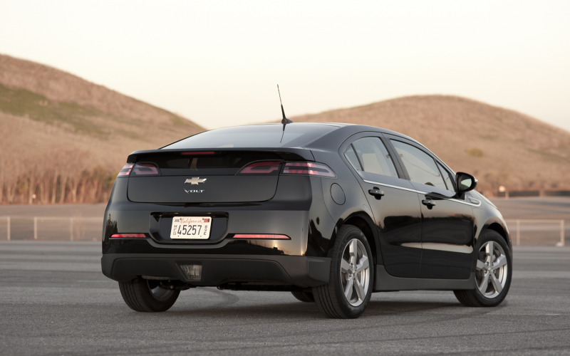 2012 Chevy Volt Rear Three Quarter