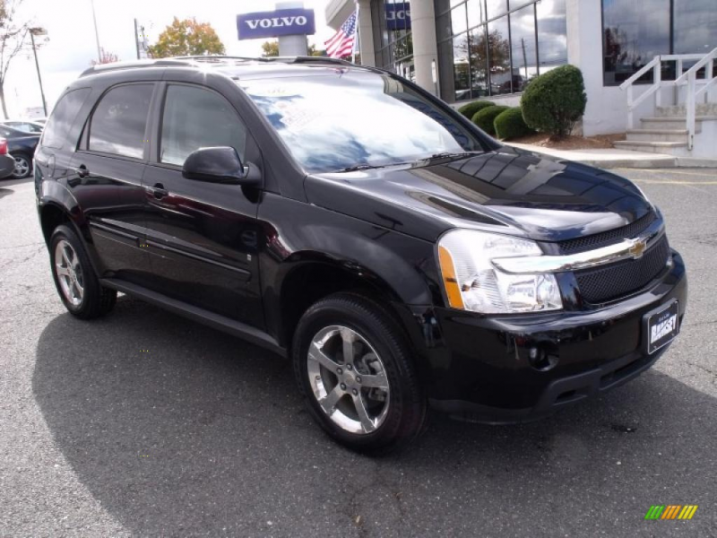 Black 2007 Chevrolet Equinox LT with Light Gray seats