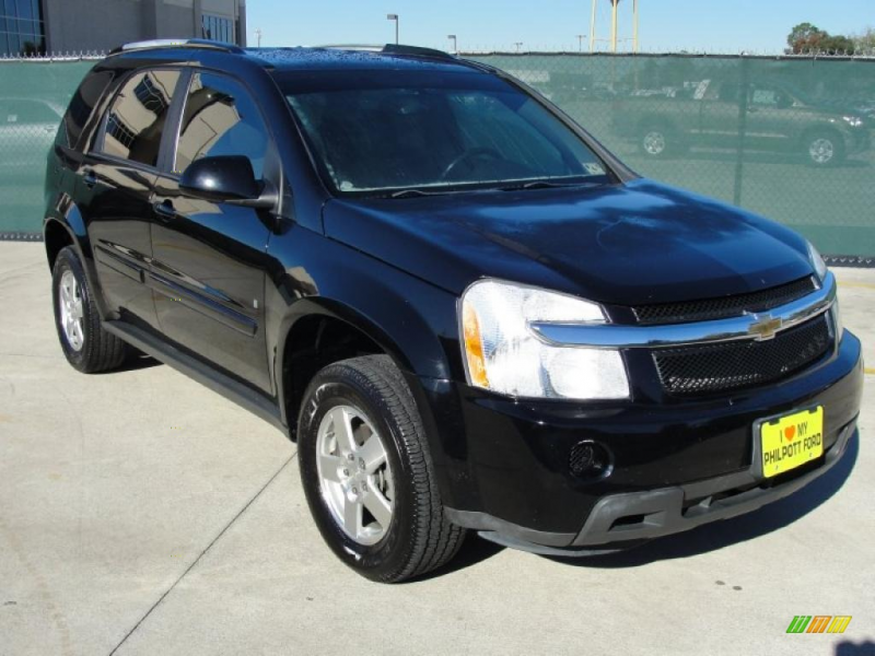 Black 2007 Chevrolet Equinox LT with Light Cashmere seats