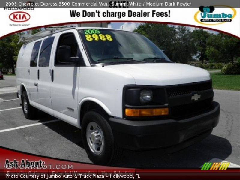 2005 Chevrolet Express 3500 Commercial Van in Summit White. Click to ...