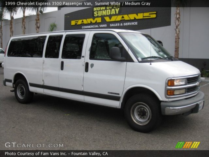 1999 Chevrolet Express 3500 Passenger Van in Summit White. Click to ...