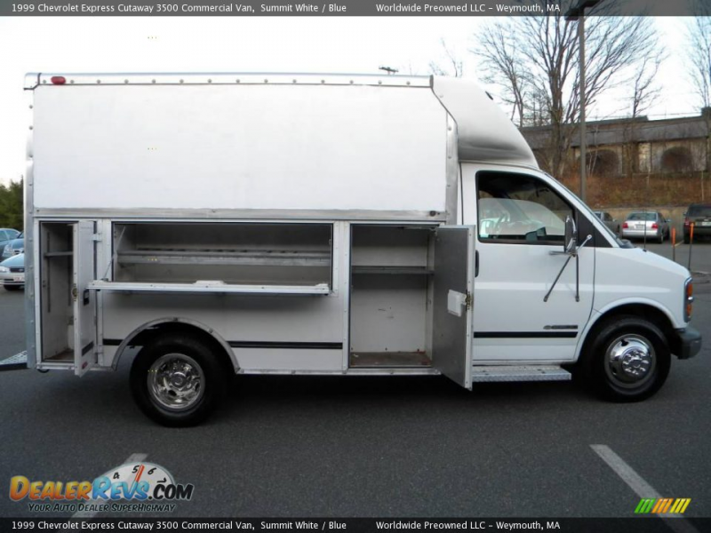 1999 Chevrolet Express Cutaway 3500 Commercial Van Summit White / Blue ...