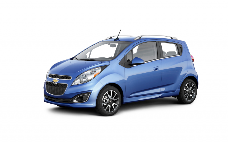 2013 Chevrolet Spark Blue Front Three Quarters