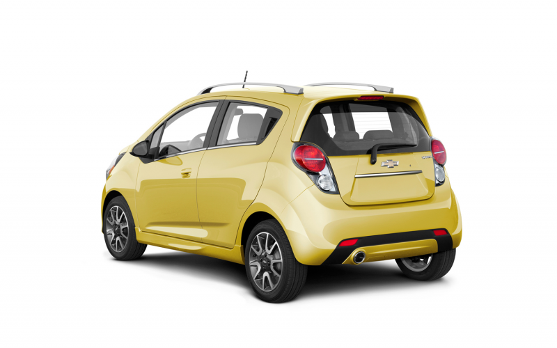 2013 Chevrolet Spark Yellow Rear Three Quarters Photo 14