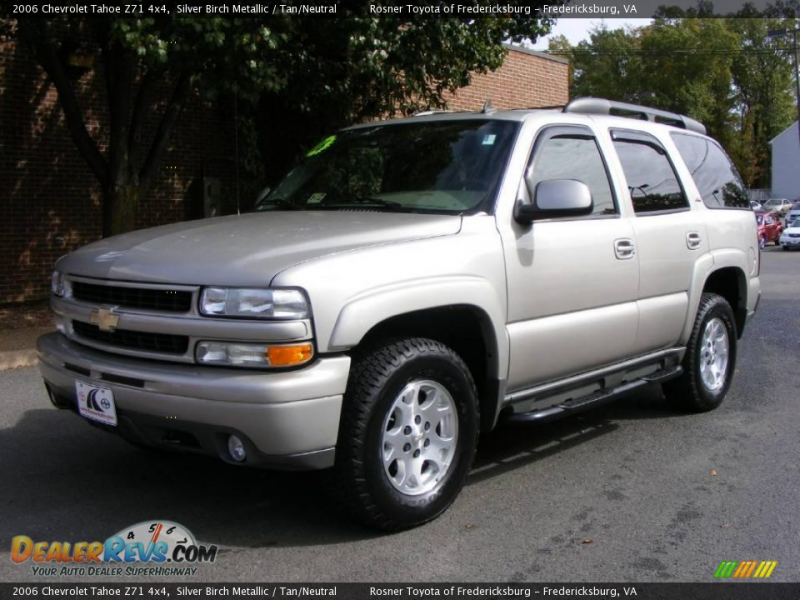 2006 Chevrolet Tahoe Z71 4x4 Silver Birch Metallic / Tan/Neutral Photo ...