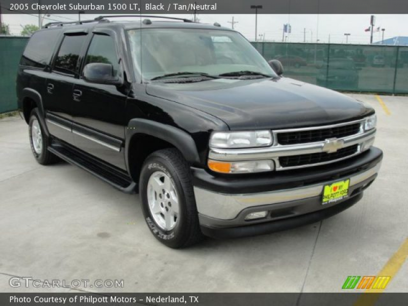 2005 Chevrolet Suburban 1500 LT in Black. Click to see large photo.
