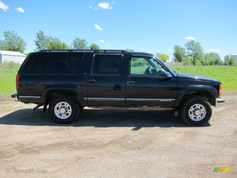 Onyx Black 1998 Chevrolet Suburban K2500 LS 4x4 Exterior Photo ...