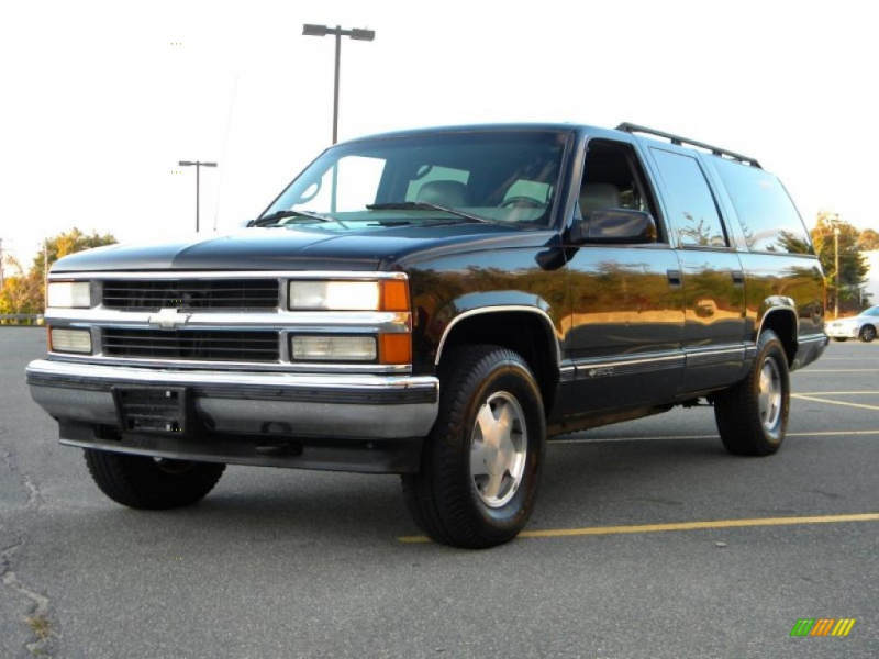 Onyx Black 1997 Chevrolet Suburban 1500 LT with Gray seats