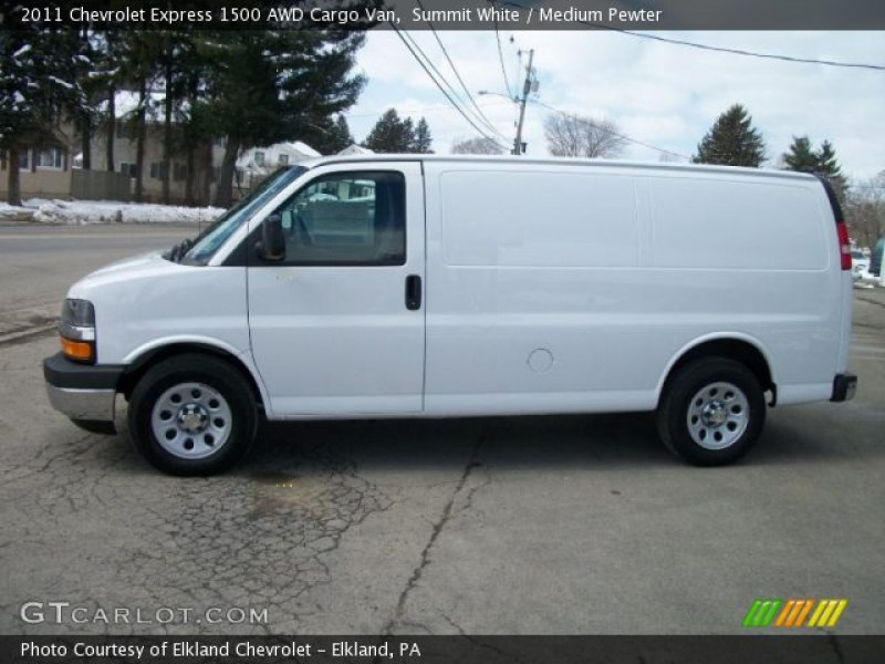2011 Chevrolet Express 1500 AWD Cargo Van in Summit White. Click to ...