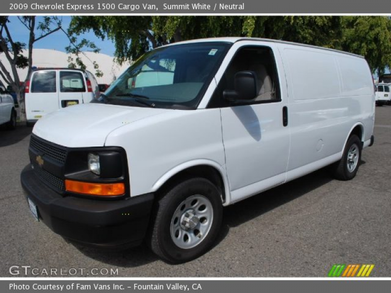 2009 Chevrolet Express 1500 Cargo Van in Summit White. Click to see ...