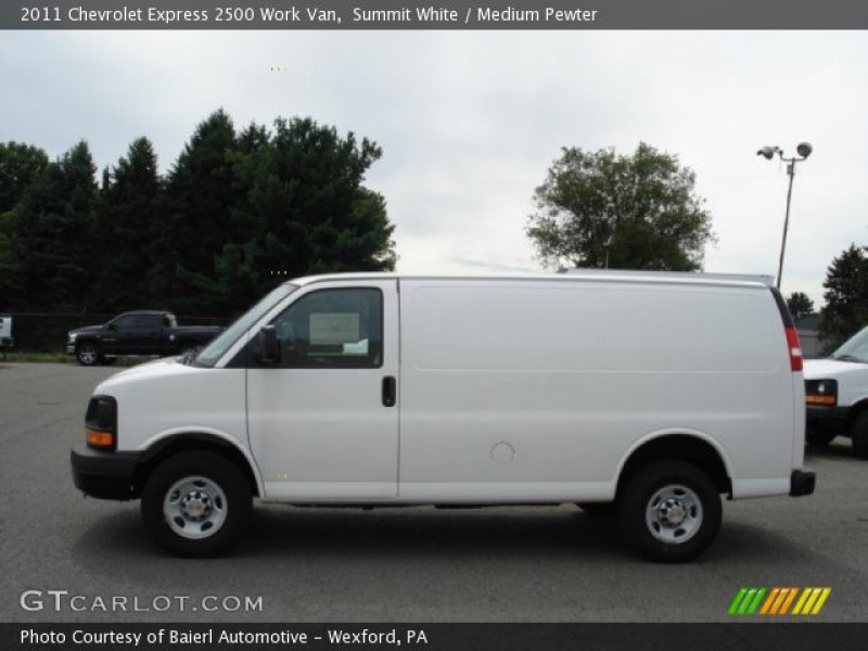 Summit White 2011 Chevrolet Express 2500 Work Van with Medium Pewter ...
