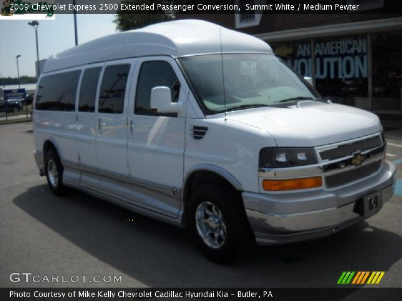 Summit White 2009 Chevrolet Express 2500 Extended Passenger Conversion ...